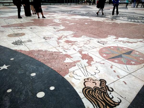 Portugal - Lisbon Belem Monument Wind Rose Illustration