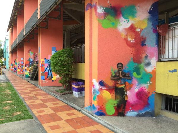 Singapore Street Art - Haha-TraseOne Cricket and Classica