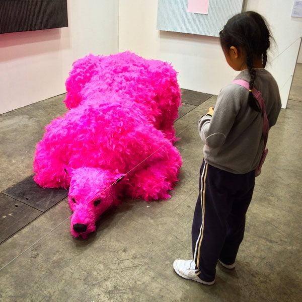 Hong Kong Art Basel - Pink Bear