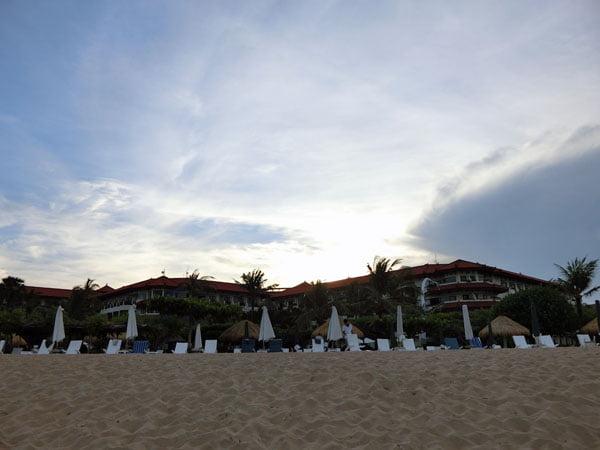 Bali Grand Mirage Resort Beach Silhouette