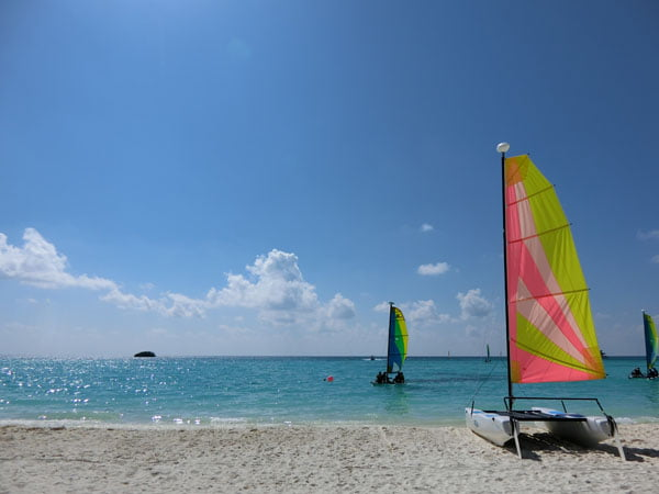 Club Med Kani Maldives Beach Sailboat