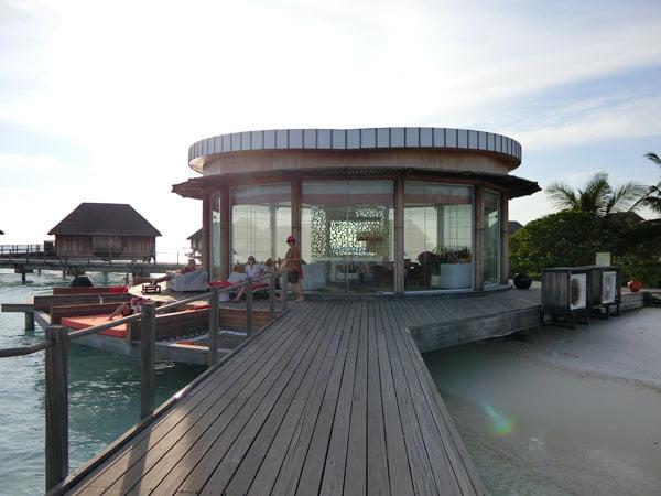 Club Med Kani Maldives Lagoon Suite lounge
