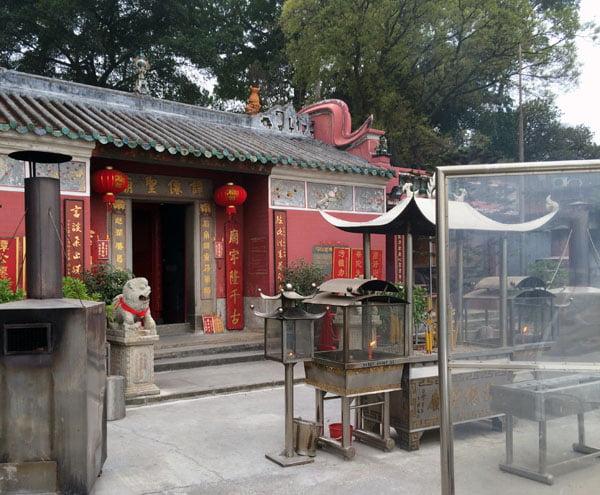 Macau Coloane Temple Sea