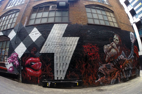 Melbourne Street Art ACDC Lane Lightning Bolt