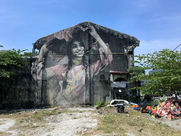 Penang Street Art - Balik Pulau Dancing Girl JuliaV