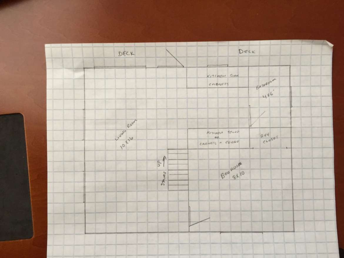 Floor plan for the 20ft x 24ft off grid cabin for Off the grid floor plans