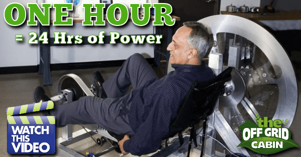 An hour every day workout can power your home for twenty-four hours