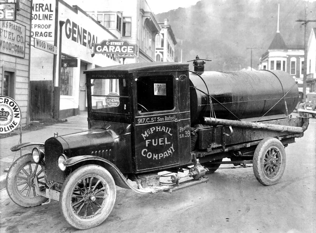 Garage Brewing Truck A Unique Model Tt Ford Fuel Tanker Truck The Old Motor