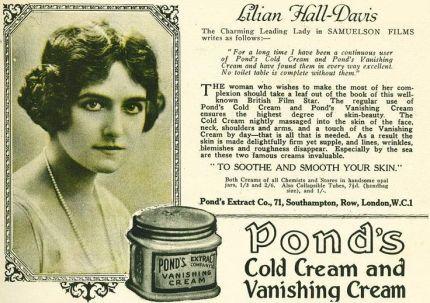 Ponds cold cream advertisement 1920s