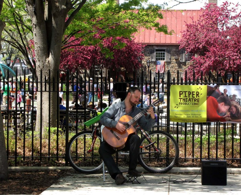 Playing guitar at OSH