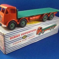 DINKY 902 FODEN FLAT TRUCK ORANGE GREEN MINT BOXED FREE UK P&P