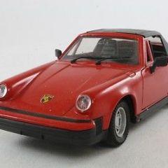Polistil Politoys;  Porsche 911SC Hood Up, Red & Black; Very Good Unboxed