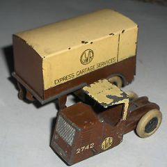 DINKY TOYS PRE WAR MECHANICAL HORSE GWR EXPRESS CARTAGE SERVICES