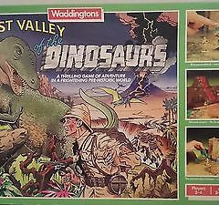 Waddingtons Family vintage traditional  LOST VALLEY OF THE DINOSAURS  BOARDGAME