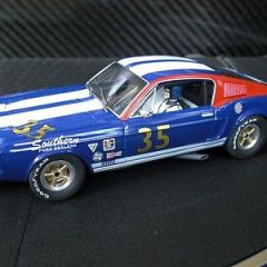 PIONEER SLOT CAR BRAND NEW UNBOXED TRANS AM MUSTANG FASTBACK BLUE SCALEXTRIC DPR