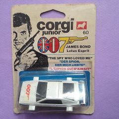 Corgi Juniors 60 Diecast Lotus Esprit 007 James Bond (On Card)