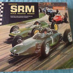 SRM SCALE RACEWAY MODELS SLOT CAR SET ULTRA RARE 1/40 SCALE