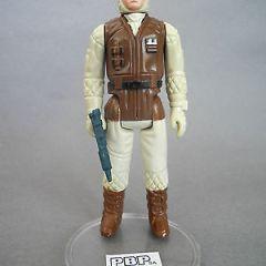 STAR WARS VINTAGE PBP REBEL SOLDIER HOTH DARK BROWN BODY WHITE/PINKISH FACE