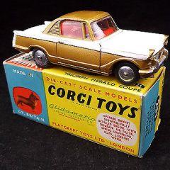Vintage CORGI TOYS Triumph Herald Coupe DIE CAST Car In Original Box – V15 L47