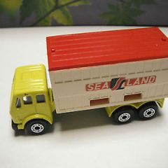 Matchbox Superfast Lesney Preproduction SF42 Mercedes Truck-  YELLOW