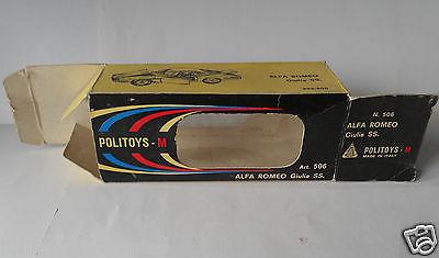 Alfa Romeo Giulia SS N506 Politoys 1/43 Diecast Only The Box