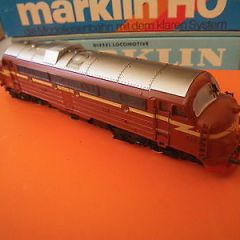 MARKLIN HO/00 GAUGE 3143 NORWEIGAN DIESEL LOCOMOTIVE BOXED DIE CAST BODY 3 RAIL