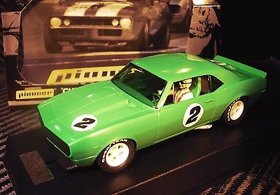 PIONEER SLOT CAR J-CODE SPECIAL 1967 CHEVY CAMARO LIME GREEN TOOL TEST ASSEMBLY