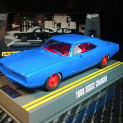 PIONEER SLOT CAR J-CODE SPECIAL 1968 DODGE CHARGER R/T 'TRUE BLUE' TOOL TEST