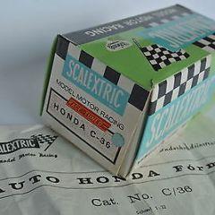 Scalextric EXIN Spain SUPER BOX +Instruction-Sheet for blue HONDA RA273  C36 '68