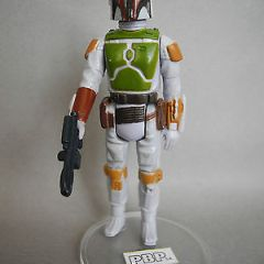 STAR WARS VINTAGE BOBA FETT PBP PAINTED KNEE BITONE BELT MINT UNPLAYED TOP 1