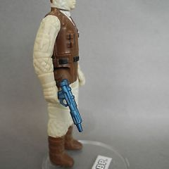 STAR WARS VINTAGE PBP REBEL SOLDIER DARK BROWN BODY METALLIC PBP BLASTER MINT