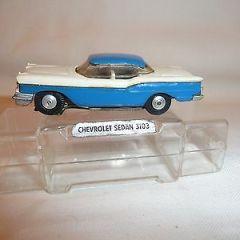 VINTAGE PLAYCRAFT 3103 CHEVROLET SEDAN BOXED SLOT CAR AURORA HO OO SCALEXTRIC