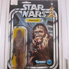 Vintage Star Wars Chewbacca Green Crossbow 12 Back-C AFA 80 NM (C80/B80/F85)