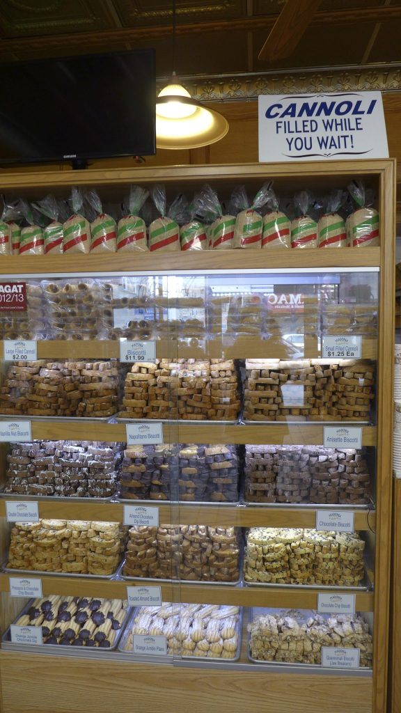 Madonia Bakery's Wall of Biscotti