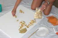 Acrylic Painting On Gold Leaf - Defendbigbird.com