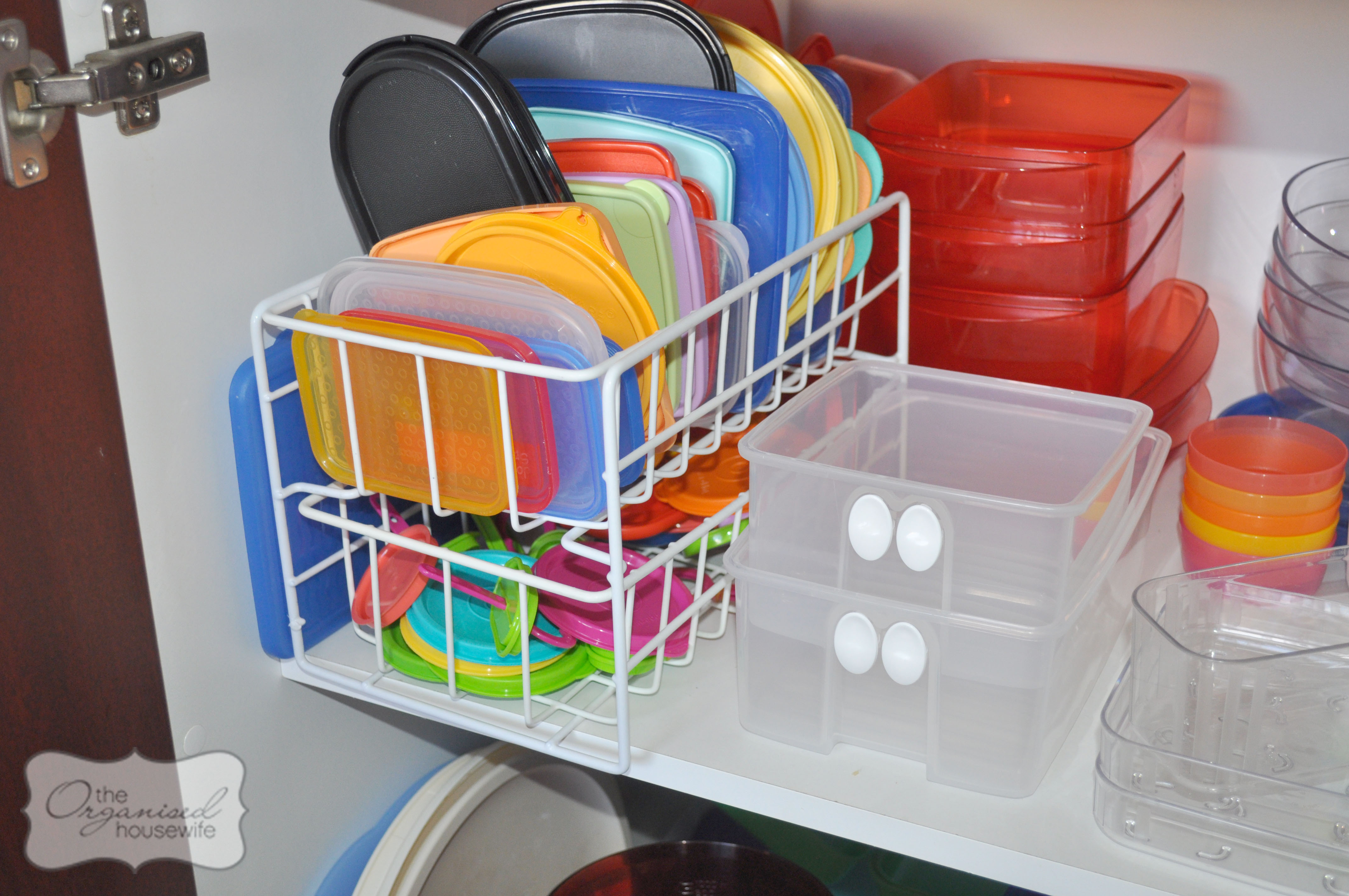 steps organised kitchen cupboard including tupperware dishes organizer store lids large