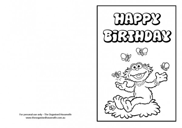 Free Printable Birthday Cards - The Organised Housewife