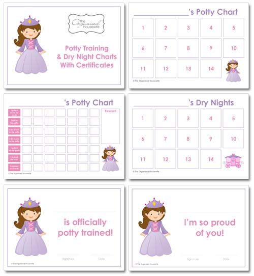 12 Potty Training Tips + Potty Training Charts - The Organised Housewife