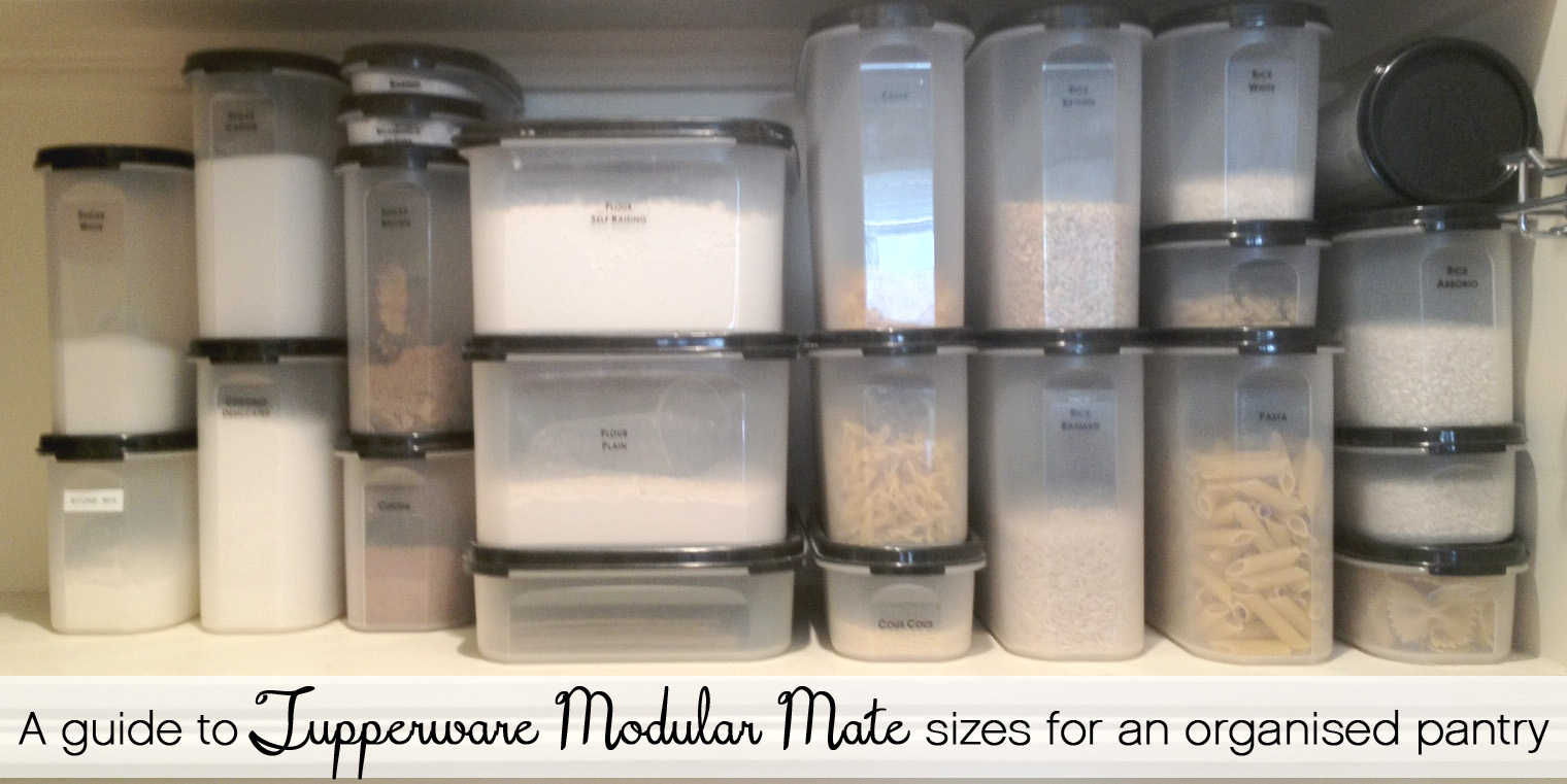 A Guide To Sizes Of Tupperware Modular Mate Containers For