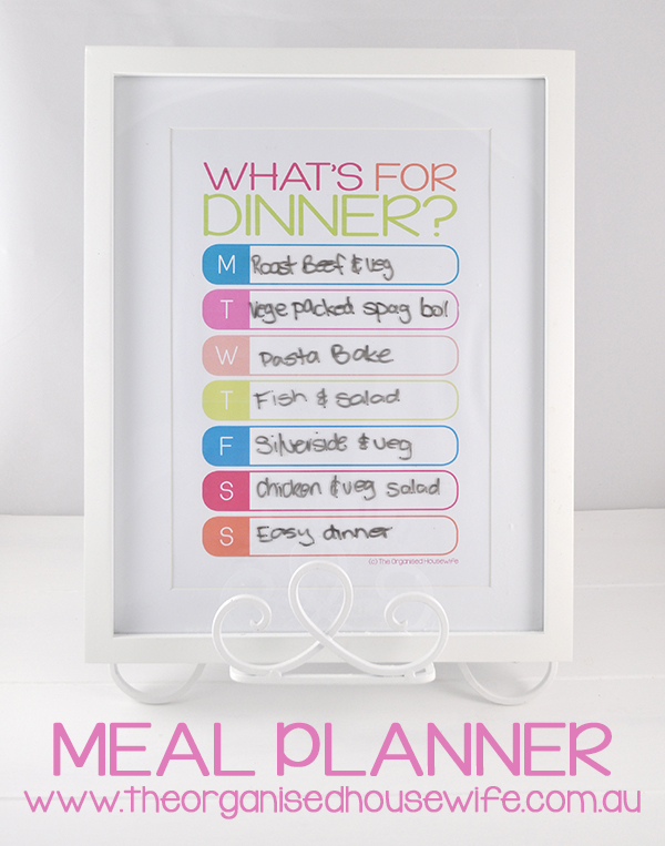 How to Meal Plan - The Organised Housewife - how to plan weekly meals for two