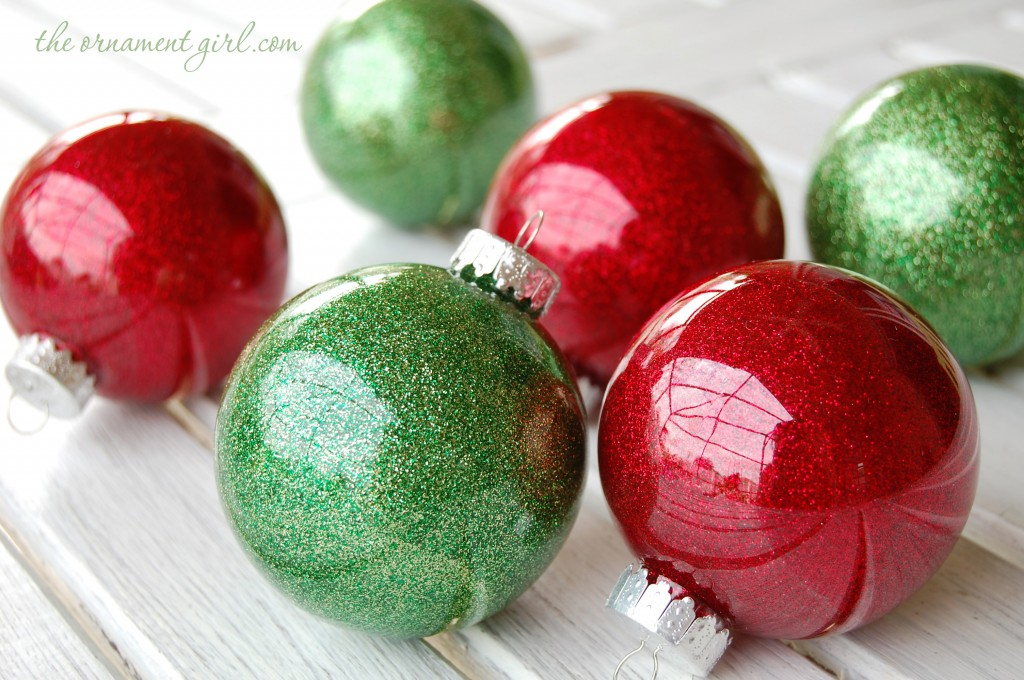 How to make glitter Christmas ornaments DIY u2013 The Ornament Girl - plastic christmas decorations