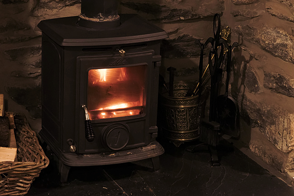 Warm aga fireplace
