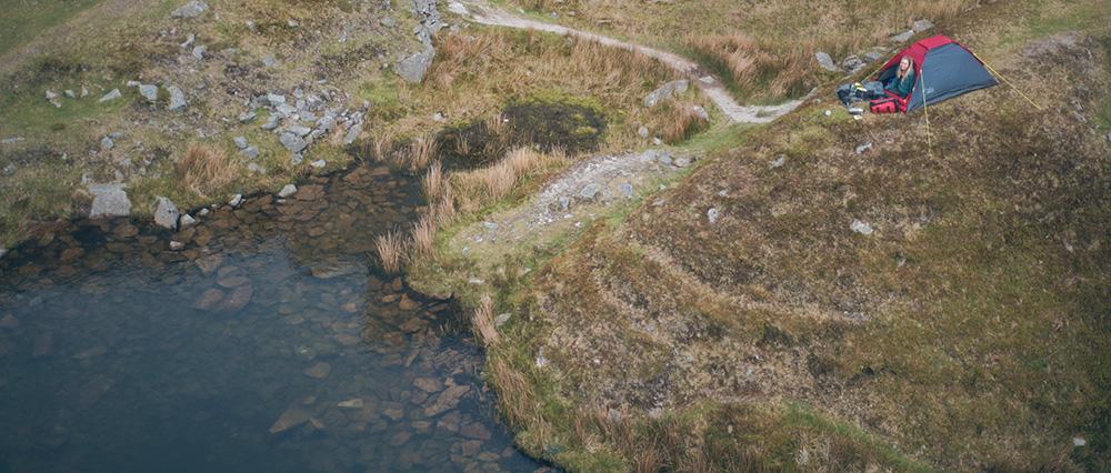 Wildcamping on Dartmoor | Foggintor tent