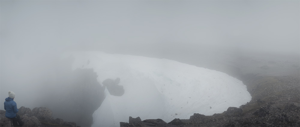 Snowy Cliff on Ben Nevis