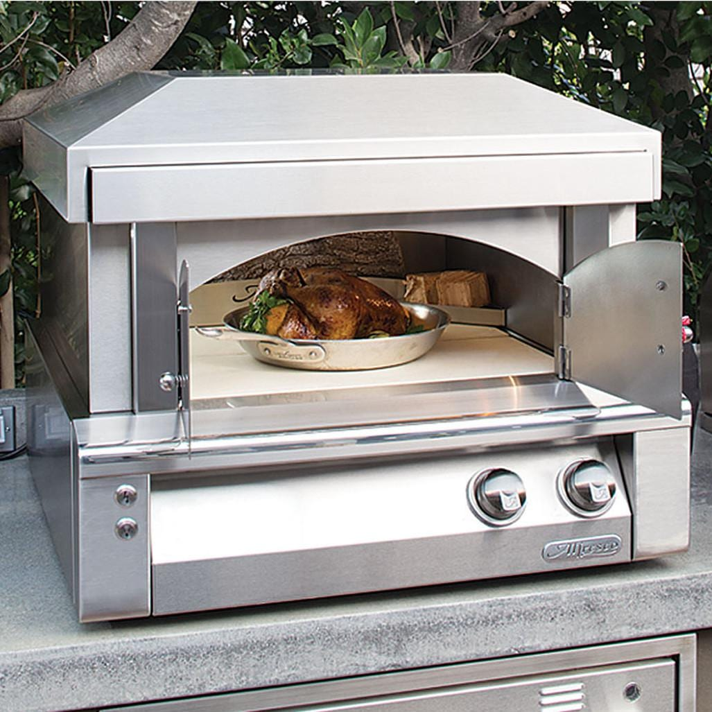 Countertop Pizza Oven Reviews Alfresco 30 Inch Countertop Natural Gas Outdoor Pizza Oven