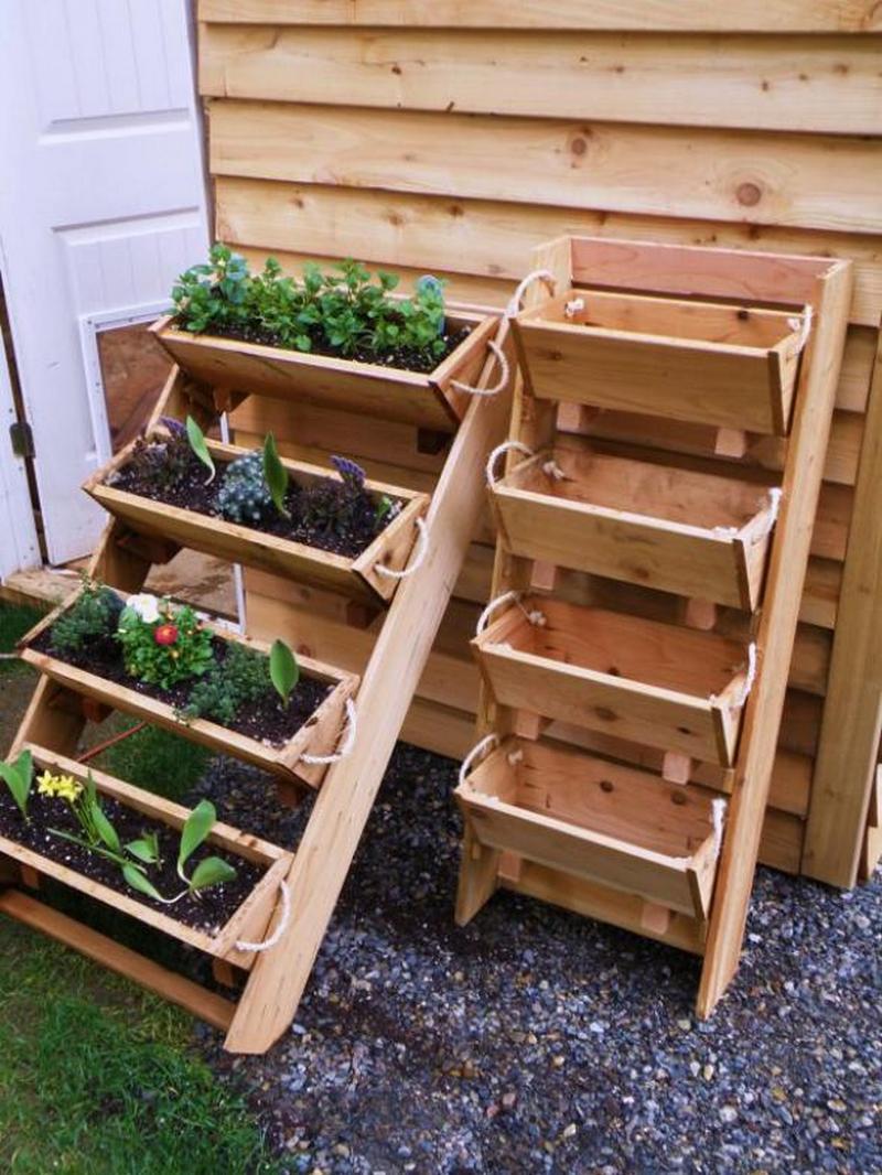 Creative Vertical Wooden Box Planter Vertical Wooden Box Planter Network Upright Garden Planters garden Upright Garden Planters