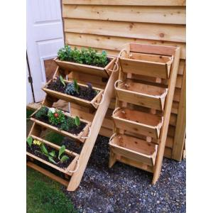 Creative Vertical Wooden Box Planter Vertical Wooden Box Planter Network Upright Garden Planters