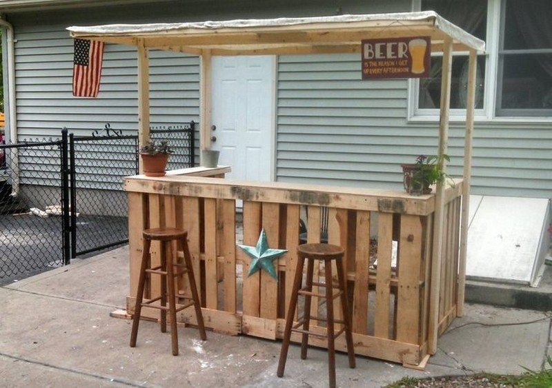 Shabby Chic Pallet Bar Shabby, Bar and Pallets
