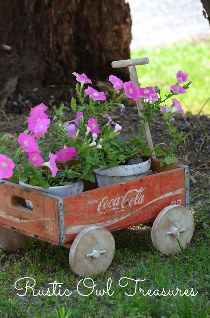 Wagon Wheel Chandelier Upcycled Soda Crate Projects | The Owner-builder Network
