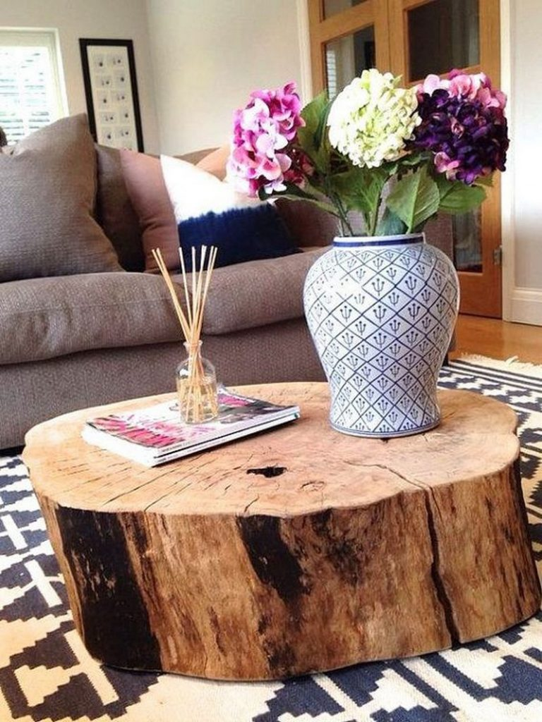Bowl Couchtisch Add Warmth To Your Home With These Rustic Log Decor Ideas